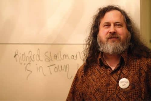 Le père du logiciel libre, Richard Stallman