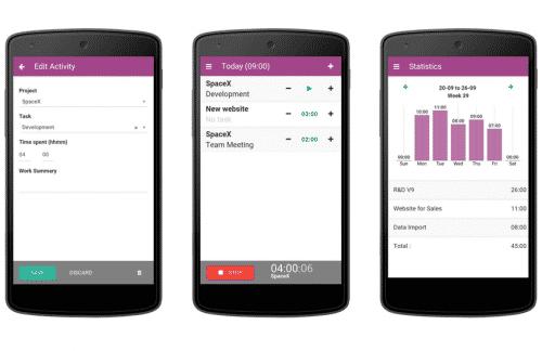 Odoo compatible sur les écrans des smartphones !