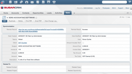 CRM open source Sugar CRM